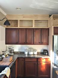 Kitchen Cabinets Install by Building Cabinets Up To The Ceiling From Thrifty Decor