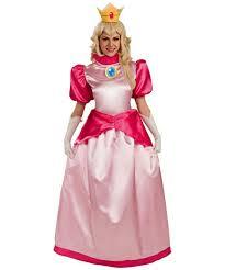 Princess Halloween Costumes Women Super Mario Princess Peach Costume Women Mario Costumes