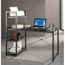Computer Desk In Black Space Saving Home Office Desks Foter