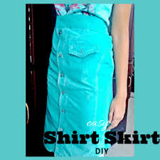 make a beautiful shirt skirt from a shirt easy diy tutorial
