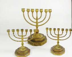 antique menorah vintage large brass menorah hanukkah brass menorah