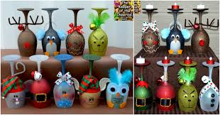 Wine Glass Decorating Ideas 5 Cute And Clever Painting Ideas To Christmas Ify Your Wine