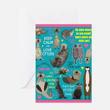 otter greeting cards cafepress