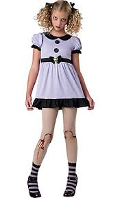 Halloween Voodoo Doll Costume Teen Girls Dead Doll Costume Trajes Costumes
