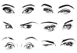 free vector sketch woman eyes titanui