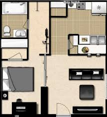 One Bedroom Apartment Plans by One Bedroom Apartment Design 1 House Plans 2015 One Bedroom
