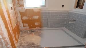 How To Tile A Bathroom Floor Complete Tile Installation Schluter Kerdiboard Kerdi Line Drain