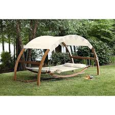 Wooden Outdoor Daybed Furniture - outdoor lawn garden deck wood patio canopy porch daybed swing bed