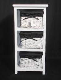 3 white basket drawer bathroom storage unit cabinet black