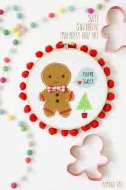 sweet gingerbread embroidery hoop art embroidery hoop art