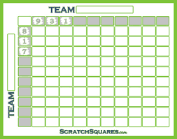 baseball square pool scratch off cards