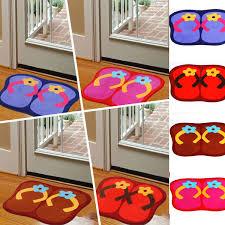 41x58cm anti slip flip flops shape lint ground mat absorbent