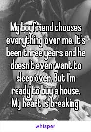 boyfriend chooses everything over me it u0027s been three years and he