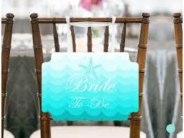 Bridal Shower Chair Mermaid And Beach Chair Banner Magical Printable
