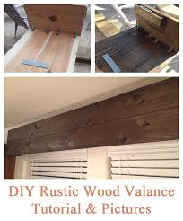 How To Make A Ruffled Valance Easy Diy Tutorial For Creating A Rustic Wood Valance The End