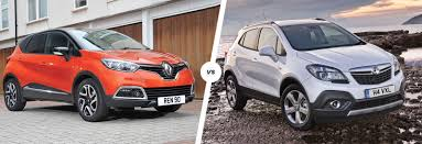 vauxhall mokka renault captur vs vauxhall mokka suvs compared carwow