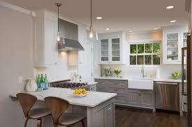 kitchen cabinets white top gray bottom kitchen transitional kitchen columbus by nicholson