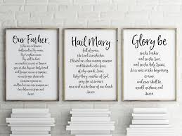 our father hail mary u0026 glory be printable 3 prayer pack