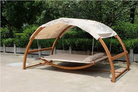 interesting swing bed with canopy with deluxe two person arched