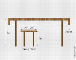 Standard Dining Room Table Size Home Design - Dining table dimensions for 8