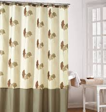 Brown And White Shower Curtains Brown And Sage Green Shower Curtain Home Decoration Ideas