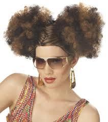 70s Halloween Costumes Men Details Disco Puffs 70 U0027s 60 U0027s Blonde Black Brown Costume Wig