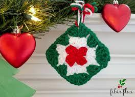 fiber flux quick granny square ornament