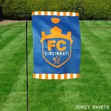 Decorative Garden Flags Fc Cincinnati Garden Flag Cincy Shirts
