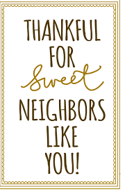 thankful for sweet neighbors like you downloadable note card for