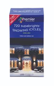 snowing icicle outdoor lights premier decorations 720 supabright led snowing icicle lights white