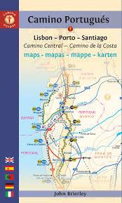 Camino De Santiago Map Camino Portugués Maps Mapas Mappe Karten Lisboa Porto