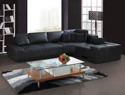 Modern L Sofa Franco Collection Modern L Shaped Leather Sofa Black Or