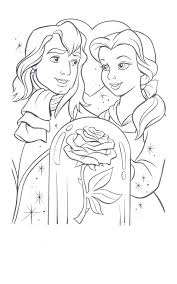 printable beauty and the beast coloring pages coloring me