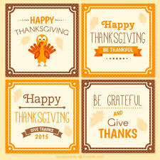 collection of thanksgiving day cards vector premium