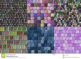 set of glass tiles seamless generated textures stock illustration