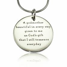 godmother necklace personalised jewellery godmother necklace fever