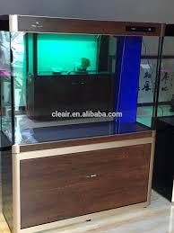 best selling wood grain surface glass aquarium fish tank for home