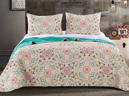 inspired bedding morocco gem bohemian inspired quilt bedding boho bed set 3 pc