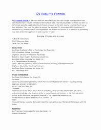 curriculum vitae for students template observation format of a cv resume elegant plain design curriculum vitae format