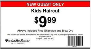 haircut coupons woodbury mn fantastic sam s printable coupon kids haircut my coupins