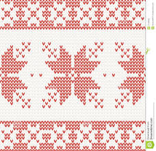 knitted christmas seamless knitted pattern with christmas ornament stock vector