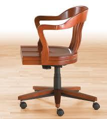 fauteuil de bureau en bois pivotant fauteuil de bureau de style en bois en cuir hauteur réglable
