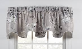 Gray Window Curtains Panel Curtains Window Toppers