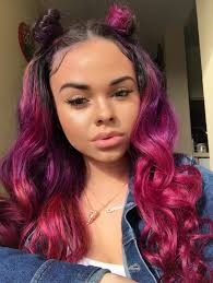 dyed weave hairstyles xo myya dip dyed and fried pinterest hair coloring