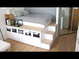 Build A Platform Bed With Drawers by Ikea Hack Platform Bed Diy Youtube