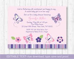 instant download baby shower invitations butterfly baby shower invitation butterfly baby shower