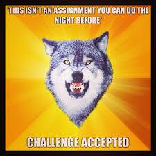 Meme Wolf - mathjoke haha mathmeme meme joke humor math wolf assignment