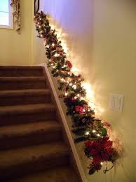 Christmas Railing Decorations Staircase Christmas Lights 25 Best Ideas About Christmas Stairs