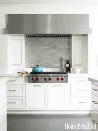 white kitchen cabinets with backsplash mod tile backsplash with oak cabinets modern kitchen appliances