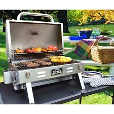 backyard grill gas grill tabletop grill gas bbq stainless steel small barbecue patio picnic
